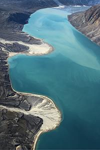 Grønlandske deltaer er blevet større med et varmere klima, viser et nyt studie fra Københavns Universitet. Foto kredit: Anders Anker Bjørk